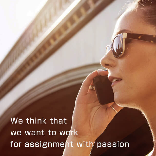 We think that we want to work for assignment with passion